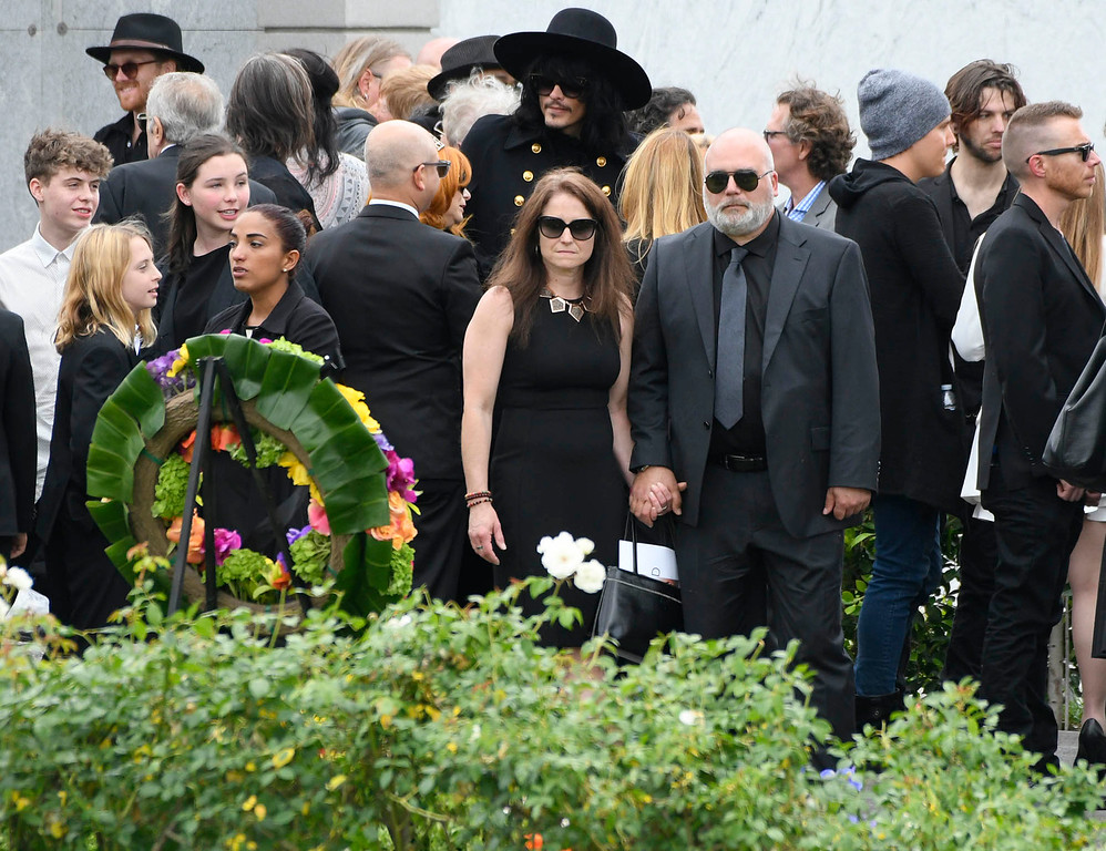 . People gather at a memorial service was held at Hollywood Forever Cemetary for Chris Cornell, the iconic rocker who hanged himself in a Detroit hotel room earlier this month. Los Angeles, CA. 5/26/2017 Photo by John McCoy/Los Angeles Daily News (SCNG)
