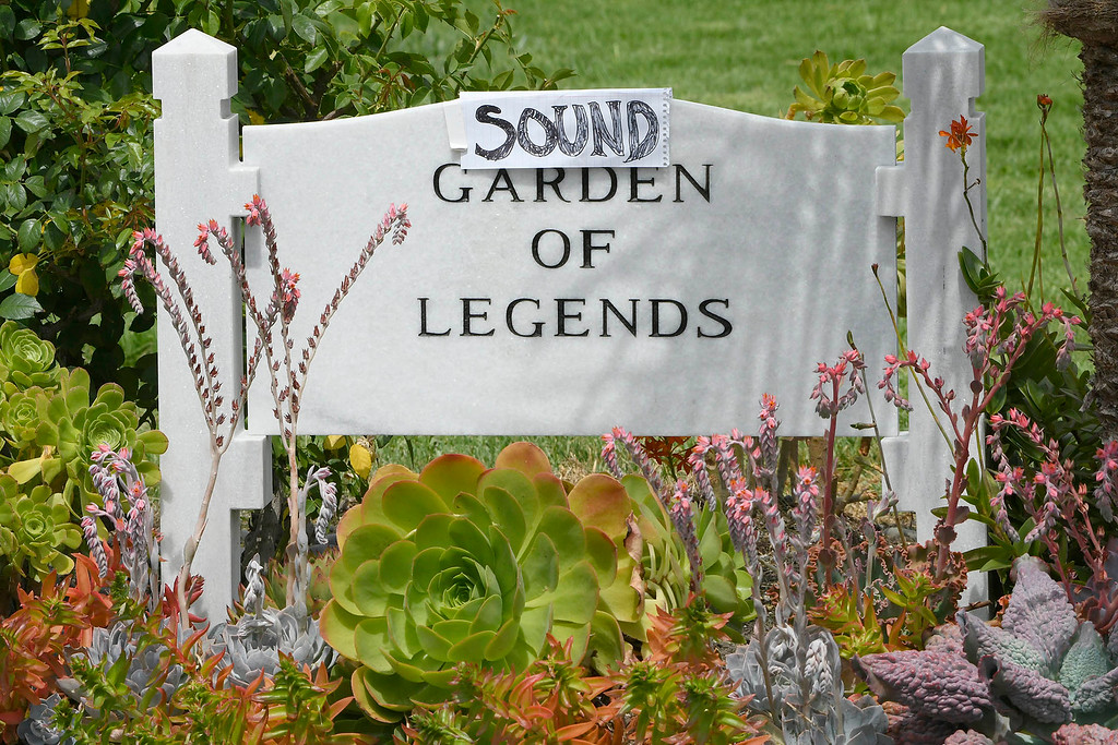 . The Garden of Legends sign had a slight addition via a fan. The public was allowed to pay respects at the grave site after a memorial service was held at Hollywood Forever Cemetary for Chris Cornell, the iconic rocker who hanged himself in a Detroit hotel room earlier this month. Los Angeles, CA. 5/26/2017 Photo by John McCoy/Los Angeles Daily News (SCNG)