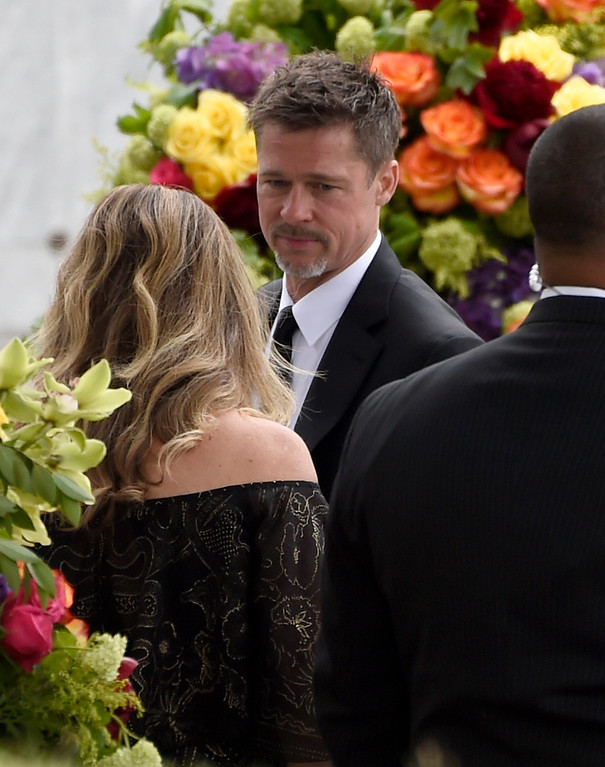 . Brad Pitt attends a memorial service for Chris Cornell at the Hollywood Forever Cemetery on Friday, May 26, 2017, in Los Angeles. (Photo by Chris Pizzello/Invision/AP)
