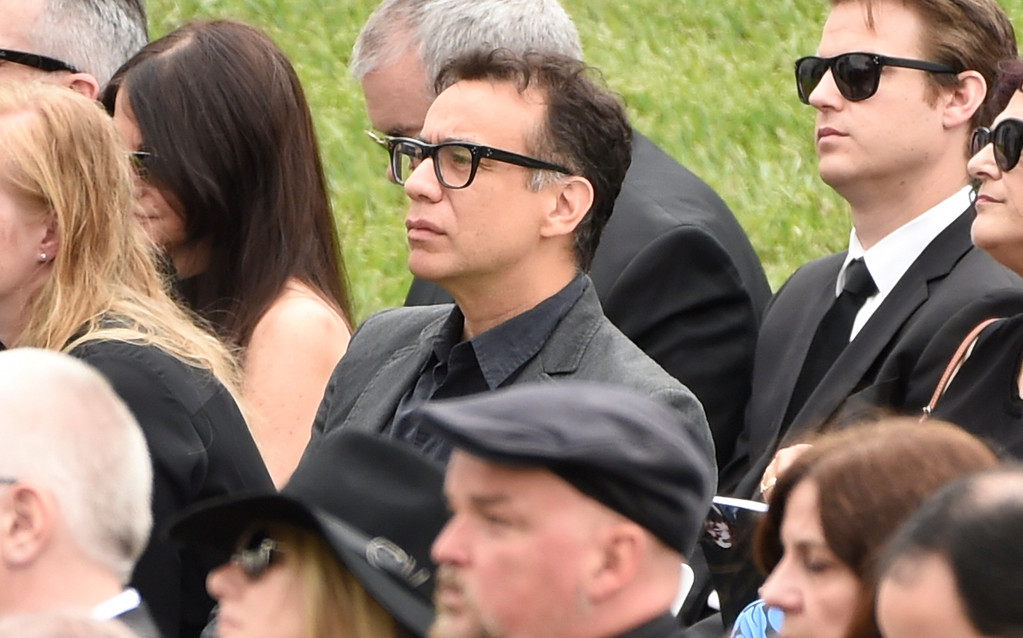 . Fred Armisen attends a funeral for Chris Cornell at the Hollywood Forever Cemetery on Friday, May 26, 2017, in Los Angeles. (Photo by Chris Pizzello/Invision/AP)