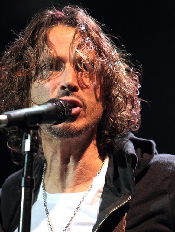 . Chris Cornell of the grunge rock band Soundgarden performs during the MMR B Q radio station concert at the Susquehanna Bank Center on Saturday, May 18, 2013, in Camden, N.J. (Photo by Owen Sweeney/Invision/AP)