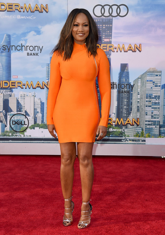 ". Garcelle Beauvais arrives at the Los Angeles premiere of ""Spider-Man: Homecoming\"" at the TCL Chinese Theatre on Wednesday, June 28, 2017. (Photo by Jordan Strauss/Invision/AP)"