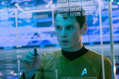 """Chekov (Anton Yelchin) in """"Star Trek."""" Yelchin, a charismatic and rising actor best known for playing Chekov in the new """"Star Trek"""" films, has died at the age of 27. He was killed in a fatal traffic collision early Sunday morning, June 19, 2016, his publicist confirmed."""