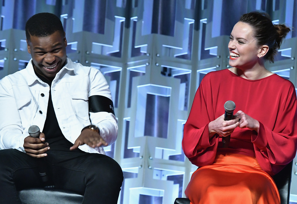 . ORLANDO, FL - APRIL 14:John Boyega and Daisy Ridley attends the Star Wars Celebration day 02 on April 14, 2017 in Orlando, Florida. (Photo by Gustavo Caballero/Getty Images)