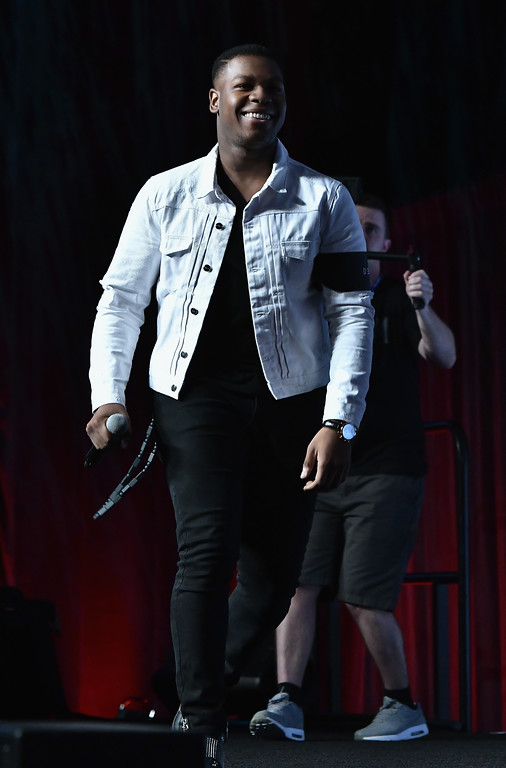 . ORLANDO, FL - APRIL 14:  John Boyega  attends the Star Wars Celebration day 02  on April 14, 2017 in Orlando, Florida.  (Photo by Gustavo Caballero/Getty Images)