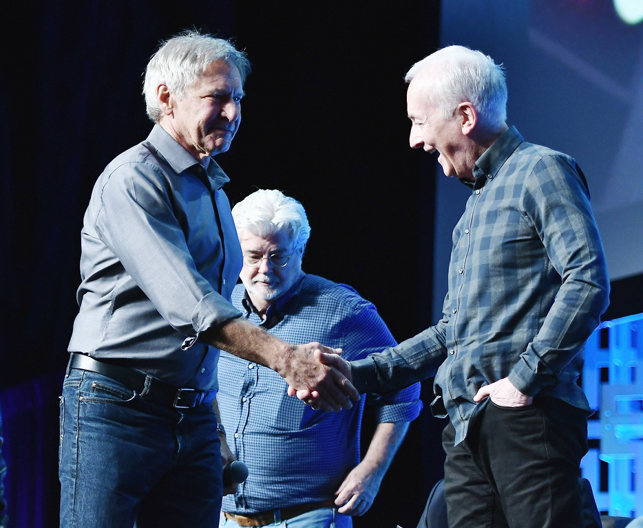 . ORLANDO, FL - APRIL 13  Harrison Ford and Anthony Daniels attend the Star Wars Celebration Day 1 on April 13, 2017 in Orlando, Florida.  (Photo by Gustavo Caballero/Getty Images)