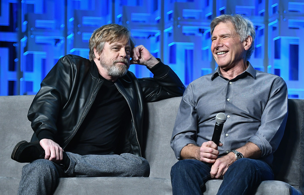 . ORLANDO, FL - APRIL 13:   Mark Hamill and Harrison Ford attend the Star Wars Celebration Day 1 on April 13, 2017 in Orlando, Florida.  (Photo by Gustavo Caballero/Getty Images)