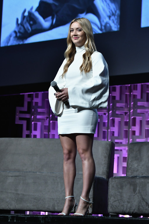 . ORLANDO, FL - APRIL 13:  Billie Catherine Lourd attends the Star Wars Celebration Day 1 on April 13, 2017 in Orlando, Florida.  (Photo by Gustavo Caballero/Getty Images)