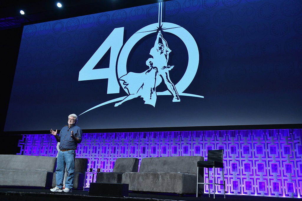 . ORLANDO, FL - APRIL 13:  George Lucas attends the Star Wars Celebration Day 1 on April 13, 2017 in Orlando, Florida.  (Photo by Gustavo Caballero/Getty Images)