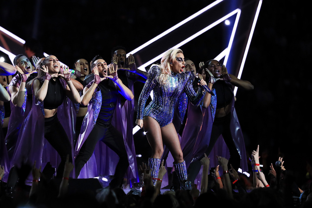 . HOUSTON, TX - FEBRUARY 05:  Lady Gaga performs during the Pepsi Zero Sugar Super Bowl 51 Halftime Show at NRG Stadium on February 5, 2017 in Houston, Texas.  (Photo by Mike Ehrmann/Getty Images)