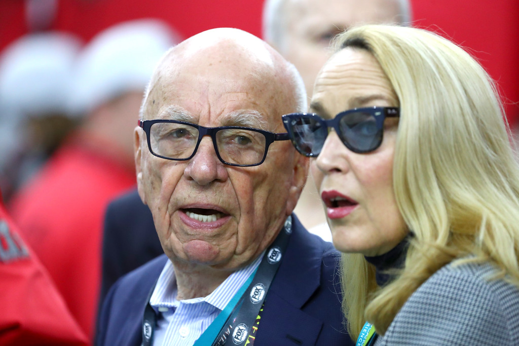 . HOUSTON, TX - FEBRUARY 05:  Rupert Murdoch looks on prior to Super Bowl 51 between the Atlanta Falcons and the New England Patriots at NRG Stadium on February 5, 2017 in Houston, Texas.  (Photo by Al Bello/Getty Images)