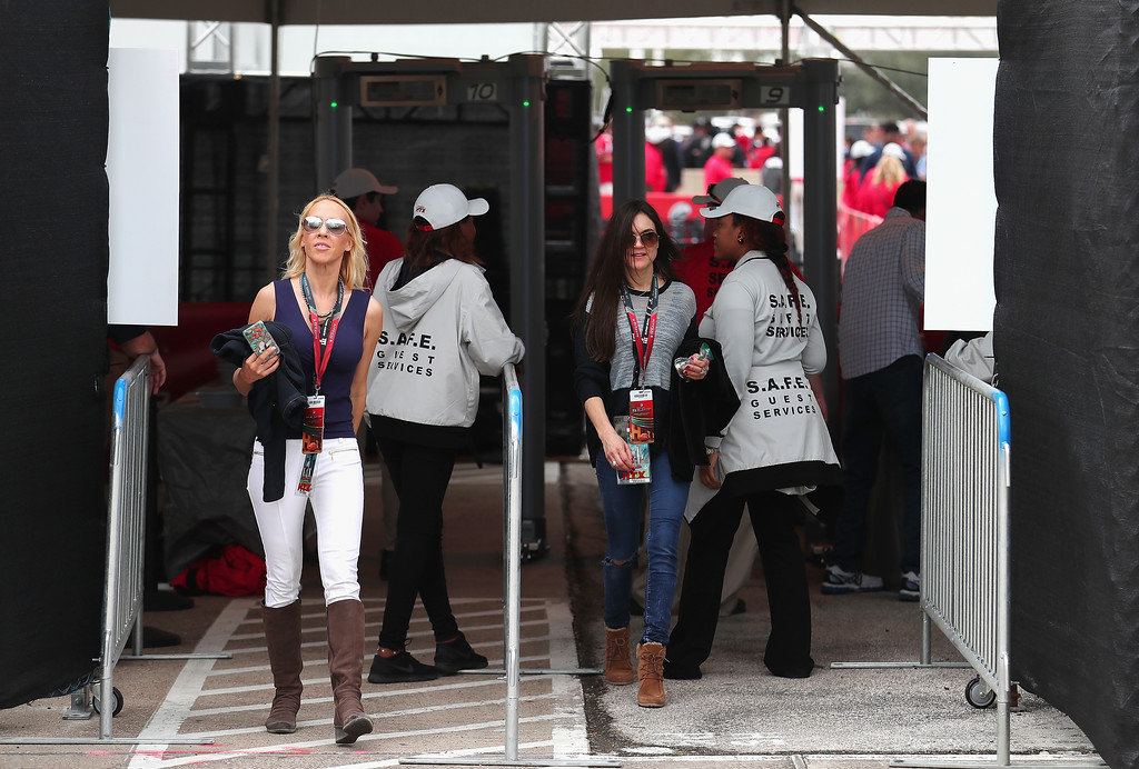 . HOUSTON, TX - FEBRUARY 05:  Fans walk through security during Super Bowl 51 at NRG Stadium on February 5, 2017 in Houston, Texas.  (Photo by Tom Pennington/Getty Images)