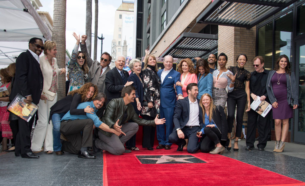 . Producer Ken Corday and the cast and crew of \'Days of our Lives\' attend the ceremony honoring Corday with a Star on the Hollywood Walk of Fame, on May 15, 2017, in Hollywood, California. (VALERIE MACON/AFP/Getty Images)