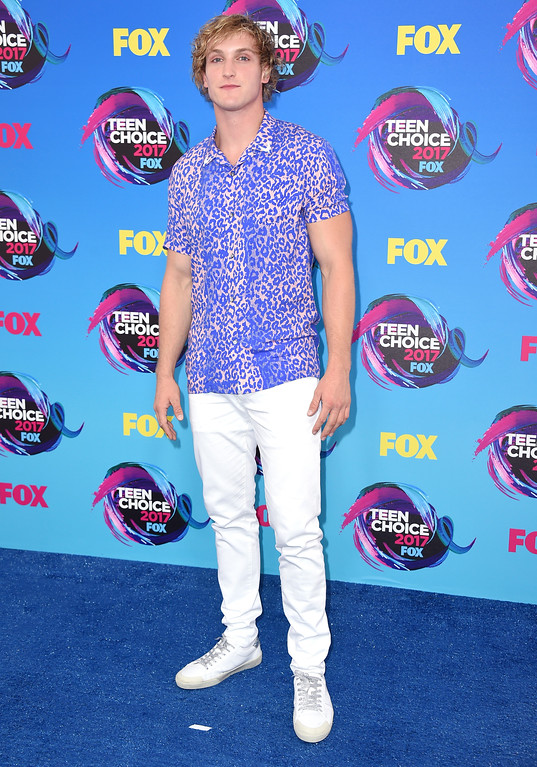 . Logan Paul arrives at the Teen Choice Awards at the Galen Center on Sunday, Aug. 13, 2017, in Los Angeles. (Photo by Jordan Strauss/Invision/AP)