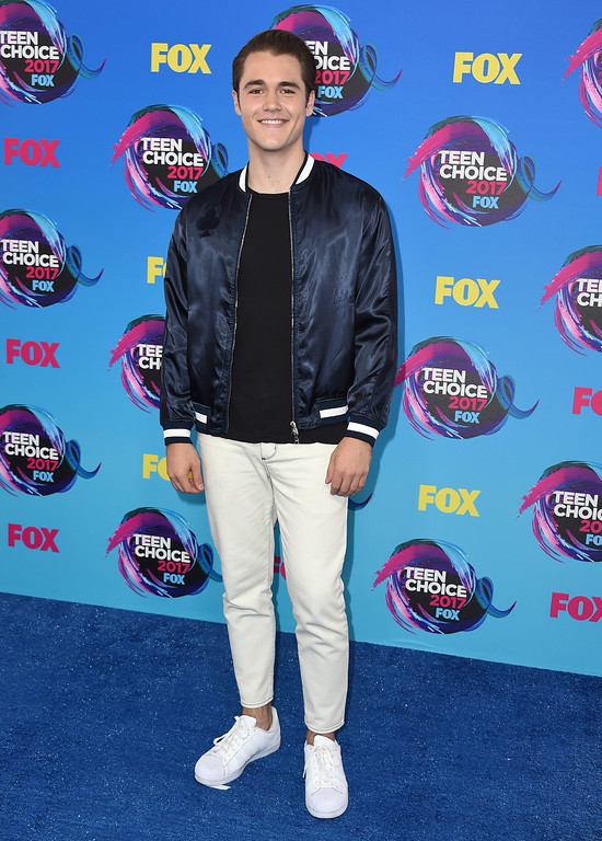 . Charlie DePew arrives at the Teen Choice Awards at the Galen Center on Sunday, Aug. 13, 2017, in Los Angeles. (Photo by Jordan Strauss/Invision/AP)