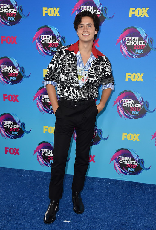 . Cole Sprouse arrives at the Teen Choice Awards at the Galen Center on Sunday, Aug. 13, 2017, in Los Angeles. (Photo by Jordan Strauss/Invision/AP)