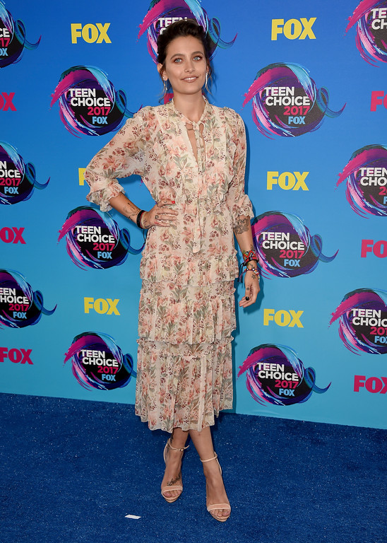 . Paris Jackson arrives at the Teen Choice Awards at the Galen Center on Sunday, Aug. 13, 2017, in Los Angeles. (Photo by Jordan Strauss/Invision/AP)