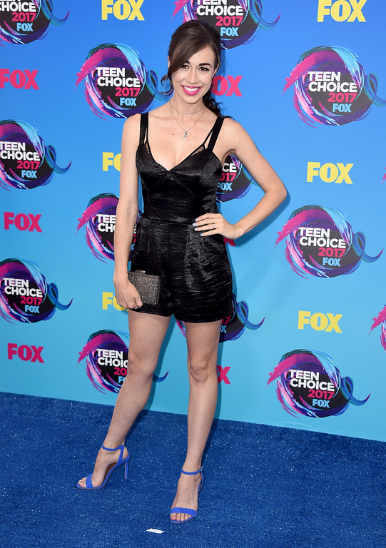 . Colleen Ballinger arrives at the Teen Choice Awards at the Galen Center on Sunday, Aug. 13, 2017, in Los Angeles. (Photo by Jordan Strauss/Invision/AP)