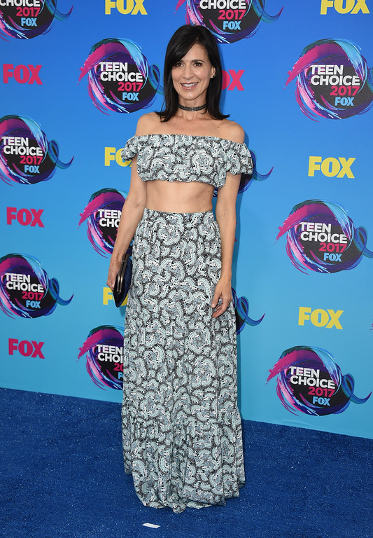 . Perrey Reeves arrives at the Teen Choice Awards at the Galen Center on Sunday, Aug. 13, 2017, in Los Angeles. (Photo by Jordan Strauss/Invision/AP)
