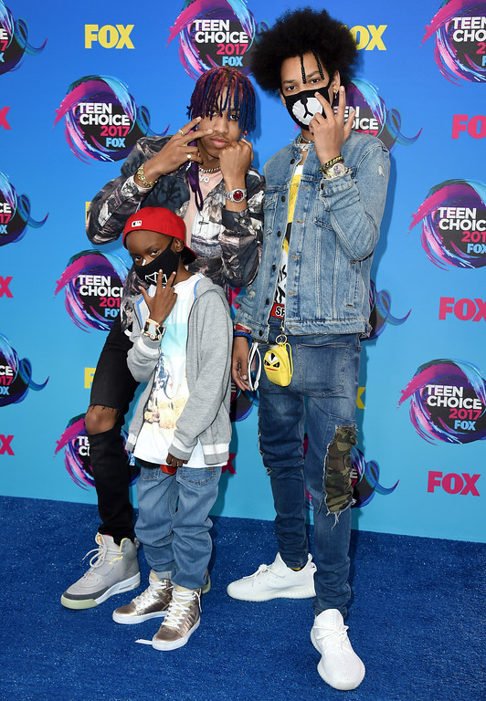 . Ayo & Teo arrives at the Teen Choice Awards at the Galen Center on Sunday, Aug. 13, 2017, in Los Angeles. (Photo by Jordan Strauss/Invision/AP)