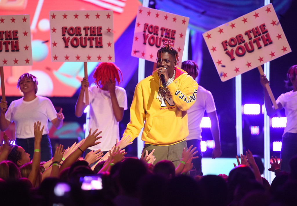 . Lil Yachty performs at the Teen Choice Awards at the Galen Center on Sunday, Aug. 13, 2017, in Los Angeles. (Photo by Phil McCarten/Invision/AP)