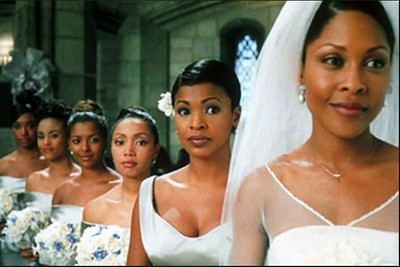 Mia (Monica Calhoun), Jordan (Nia Long) and the rest of the bridesmaids in The Best Man (1999) (Universal Studios)