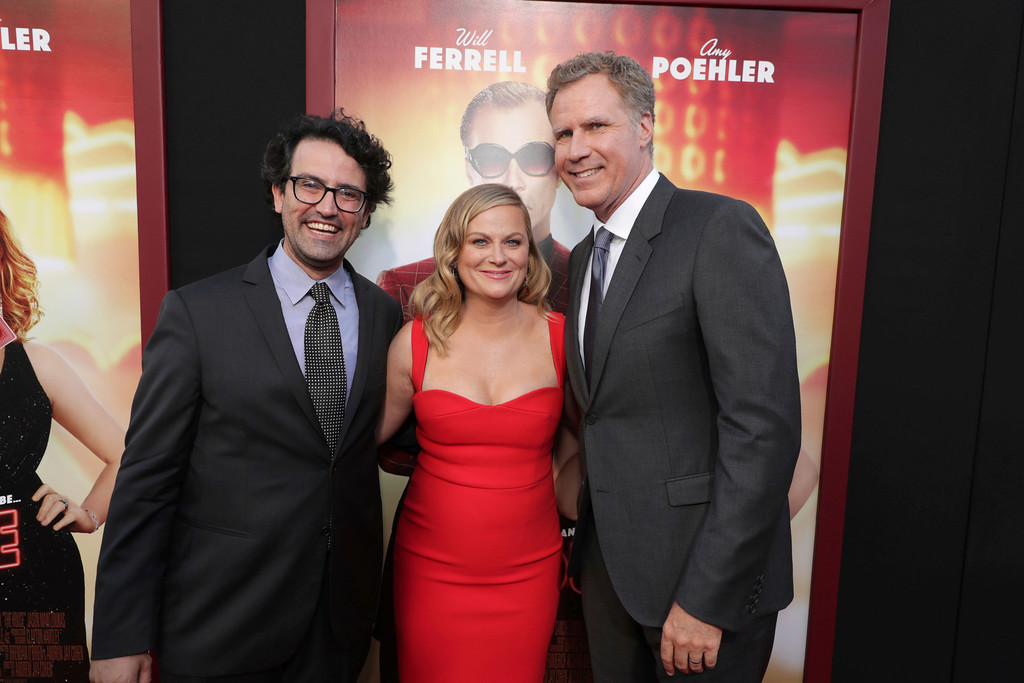 ". Director/Writer/Producer Andrew Jay Cohen, Amy Poehler and Producer/Actor Will Ferrell seen at New Line Cinema Presents ""The House\"" Los Angeles Premiere at TCL Chinese Theatre on Monday, June 26, 2017, in Hollywood, CA. (Photo by Eric Charbonneau/Invision for Warner Bros./AP Images)"
