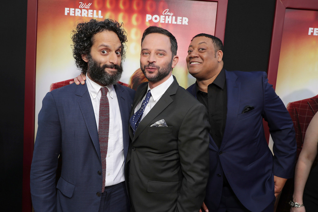 ". Jason Mantzoukas, Nick Kroll and Cedric Yarbrough seen at New Line Cinema Presents ""The House\"" Los Angeles Premiere at TCL Chinese Theatre on Monday, June 26, 2017, in Hollywood, CA. (Photo by Eric Charbonneau/Invision for Warner Bros./AP Images)"