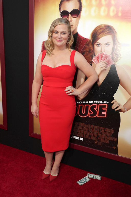 ". Amy Poehler seen at New Line Cinema Presents ""The House\"" Los Angeles Premiere at TCL Chinese Theatre on Monday, June 26, 2017, in Hollywood, CA. (Photo by Eric Charbonneau/Invision for Warner Bros./AP Images)"