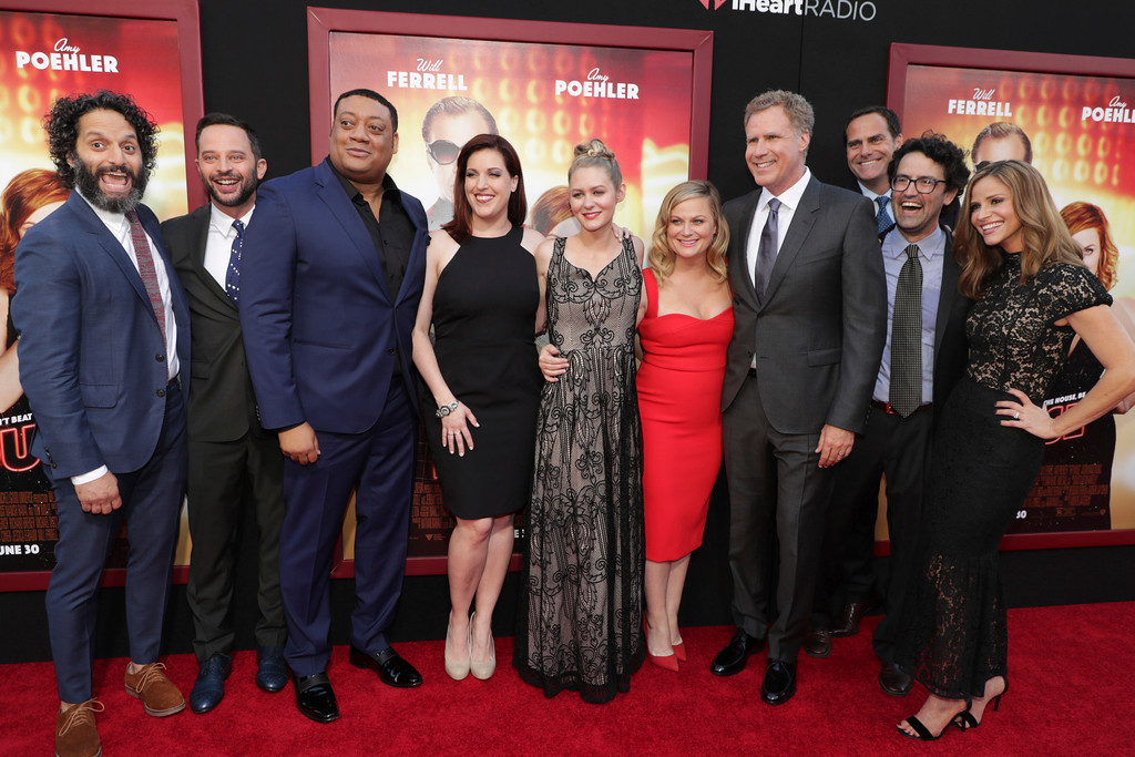 ". Jason Mantzoukas, Nick Kroll, Cedric Yarbrough, Allison Tolman, Ryan Simpkins, Amy Poehler, Producer/Actor Will Ferrell, Director/Writer/Producer Andrew Jay Cohen and Andrea Savage seen at New Line Cinema Presents ""The House\"" Los Angeles Premiere at TCL Chinese Theatre on Monday, June 26, 2017, in Hollywood, CA. (Photo by Eric Charbonneau/Invision for Warner Bros./AP Images)"