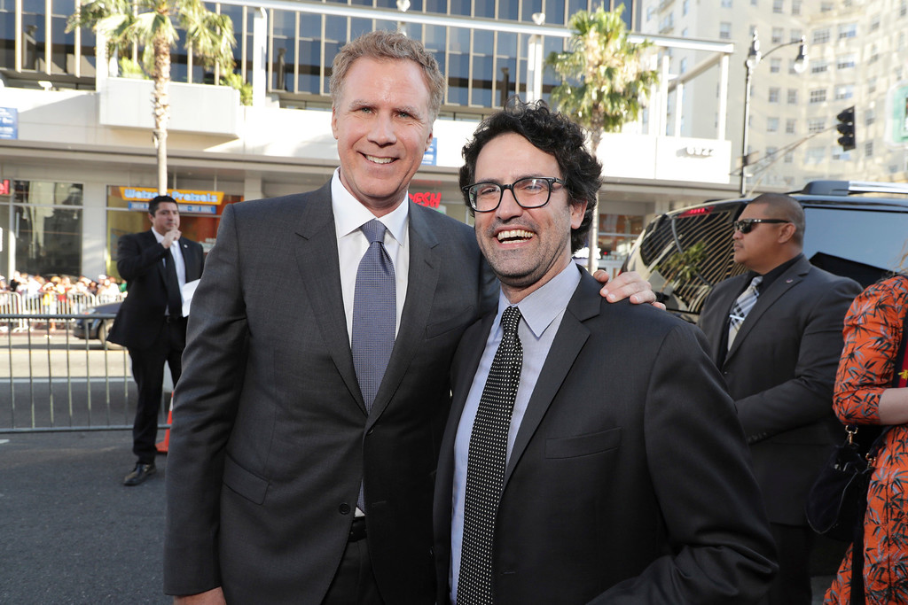 ". Producer/Actor Will Ferrell and Director/Writer/Producer Andrew Jay Cohen seen at New Line Cinema Presents ""The House\"" Los Angeles Premiere at TCL Chinese Theatre on Monday, June 26, 2017, in Hollywood, CA. (Photo by Eric Charbonneau/Invision for Warner Bros./AP Images)"