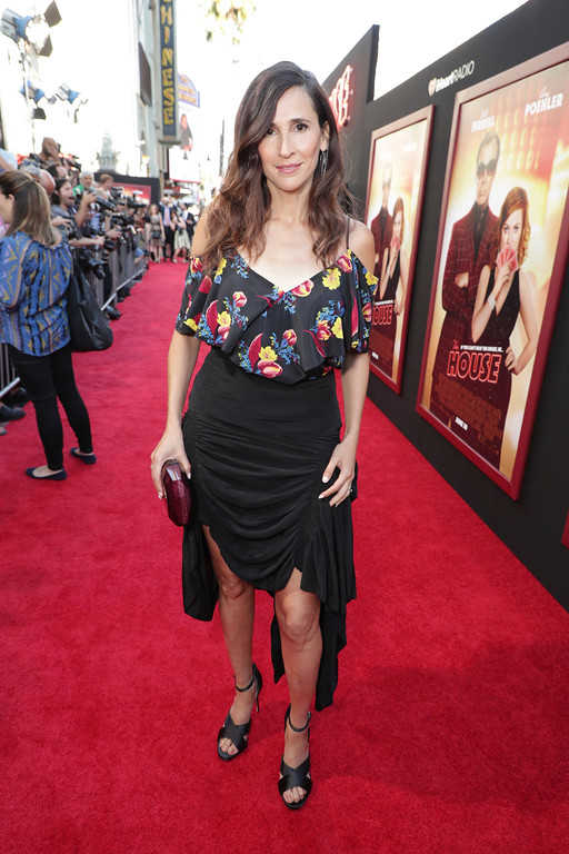 ". Michaela Watkins seen at New Line Cinema Presents ""The House\"" Los Angeles Premiere at TCL Chinese Theatre on Monday, June 26, 2017, in Hollywood, CA. (Photo by Eric Charbonneau/Invision for Warner Bros./AP Images)"