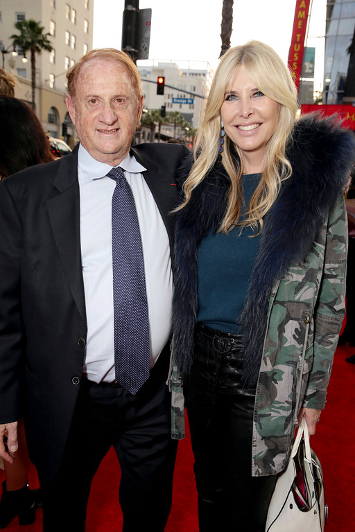 """. Producer Mike Medavoy and Irena Ferris seen at Open Road Films US Premiere of \""""The Promise\"""" at TCL Chinese Theatre on Wednesday, April 12, 2017, in Los Angeles. (Photo by Eric Charbonneau/Invision for Open Road Films/AP Images)"""