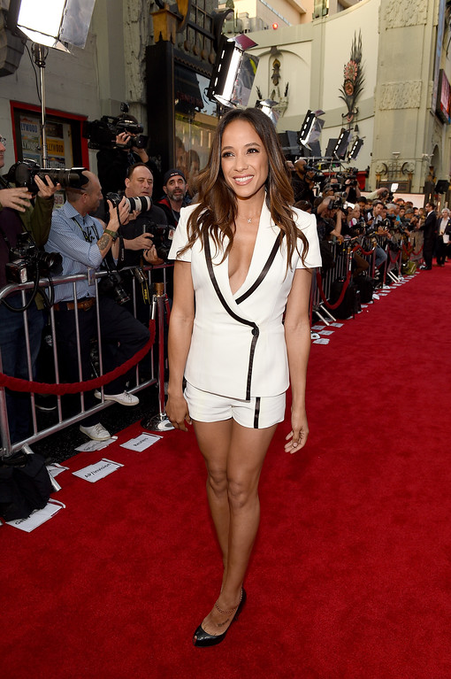 """. HOLLYWOOD, CA - APRIL 12:  Actor Dania Ramirez attends the premiere of Open Road Films\' \""""The Promise\"""" at TCL Chinese Theatre on April 12, 2017 in Hollywood, California.  (Photo by Kevork Djansezian/Getty Images)"""