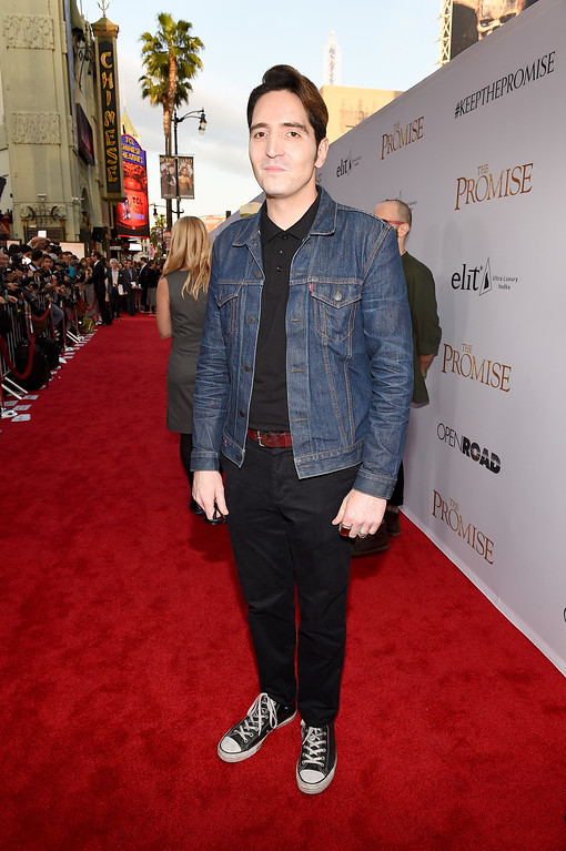 """. HOLLYWOOD, CA - APRIL 12:  Actor David Dastmalchian attends the premiere of Open Road Films\' \""""The Promise\"""" at TCL Chinese Theatre on April 12, 2017 in Hollywood, California.  (Photo by Kevork Djansezian/Getty Images)"""