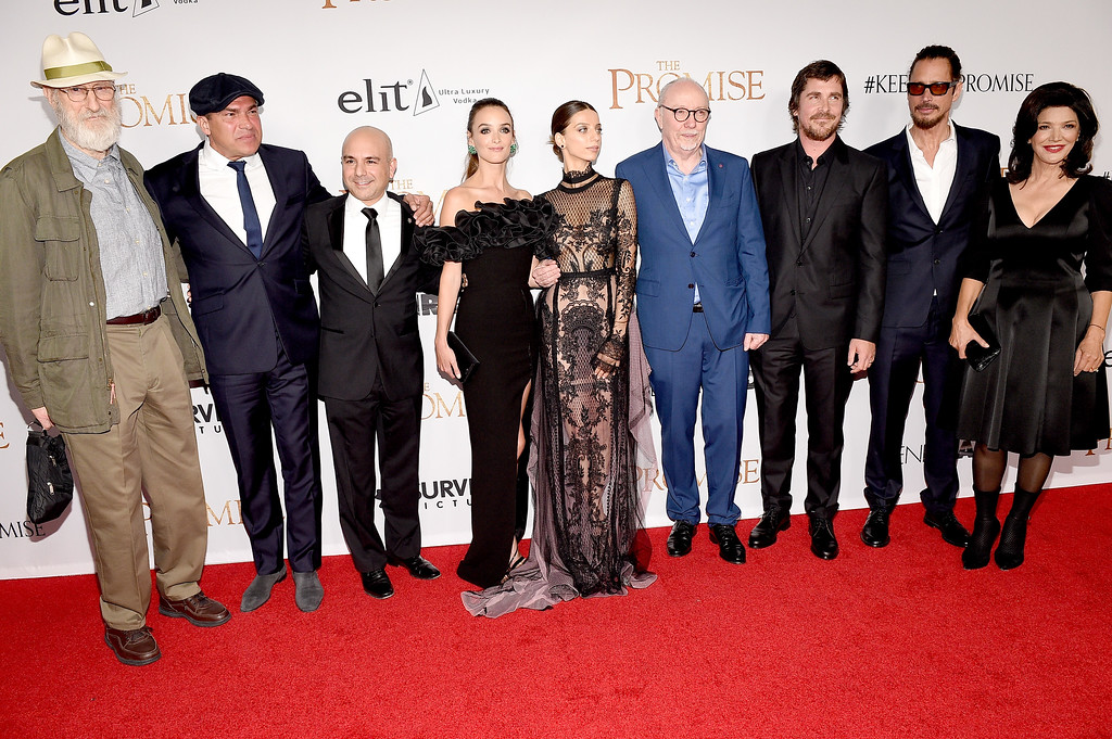""". HOLLYWOOD, CA - APRIL 12:  The cast and crew attend the premiere of Open Road Films\' \""""The Promise\"""" at TCL Chinese Theatre on April 12, 2017 in Hollywood, California.  (Photo by Kevork Djansezian/Getty Images)"""
