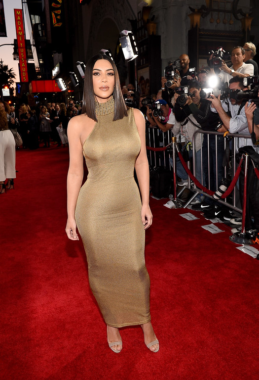 """. HOLLYWOOD, CA - APRIL 12:  TV personality Kim Kardashian West attends the premiere of Open Road Films\' \""""The Promise\"""" at TCL Chinese Theatre on April 12, 2017 in Hollywood, California.  (Photo by Kevork Djansezian/Getty Images)"""