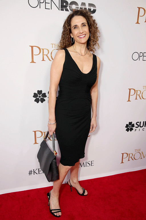 """. Melina Kanakaredes seen at Open Road Films US Premiere of \""""The Promise\"""" at TCL Chinese Theatre on Wednesday, April 12, 2017, in Los Angeles. (Photo by Eric Charbonneau/Invision for Open Road Films/AP Images)"""