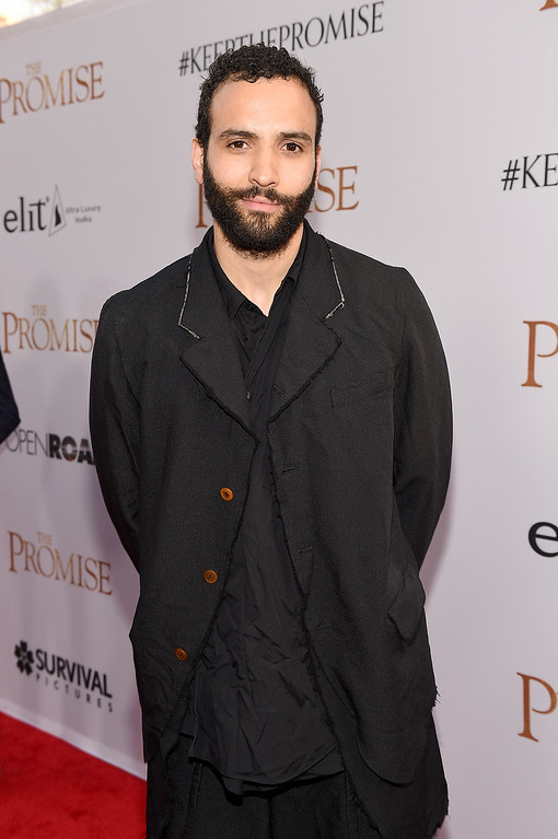 """. HOLLYWOOD, CA - APRIL 12:  Actor Marwan Kenzari attends the premiere of Open Road Films\' \""""The Promise\"""" at TCL Chinese Theatre on April 12, 2017 in Hollywood, California.  (Photo by Kevork Djansezian/Getty Images)"""