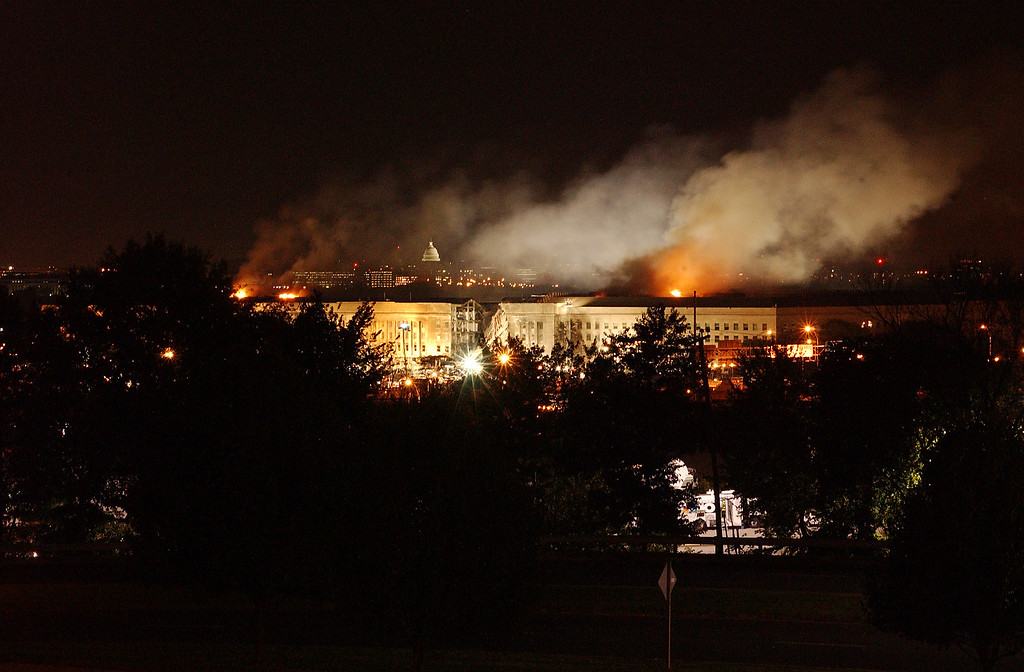. 394996 01: Smoke Rises From The Pentagon After A Terrorist Attack September 11, 2001 In Washington D.C. (U.S. Navy  (Photo By U.S. Navy/Getty Images)