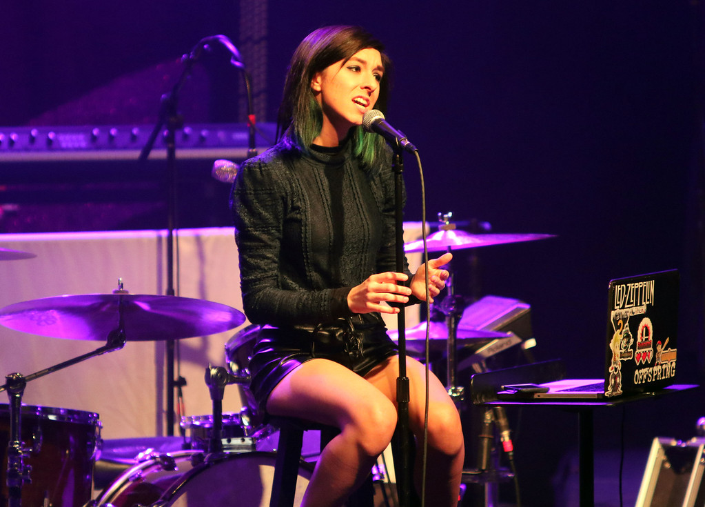 ". FILE - In this March 2, 2016 file photo, Christina Grimmie performs as the opener for Rachel Platten at Center Stage Theater, in Atlanta. Florida authorities say ""The Voice\"" star Grimmie is in critical condition after being shot at a concert venue in Orlando by a suspect who then fatally shot himself after being tackled by the singer-songwriter�s brother. Orlando Police Department officials tell WKMG-TV  that Grimmie was shot Friday night, June 10, 2016, at The Plaza Live, where she was scheduled to perform.  (Photo by Katie Darby/Invision/AP, File)"