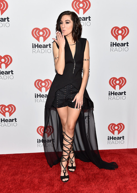 . LAS VEGAS, NV - SEPTEMBER 18:  Singer Christina Grimmie attends the 2015 iHeartRadio Music Festival at MGM Grand Garden Arena on September 18, 2015 in Las Vegas, Nevada.  (Photo by David Becker/Getty Images for iHeartMedia)