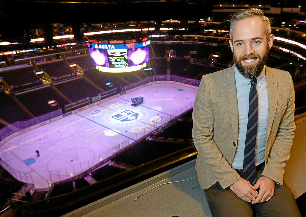 . <b>No. 50 Pat Donahue Jr.<br/> Title: Director of Digital Media, L.A. Kings - Age: 30</b> <br/>The man behind the L.A. Kings innovative twitter account epitomizes the power of social media combined with sports.  (Photos by John McCoy / Los Angeles Daily News)