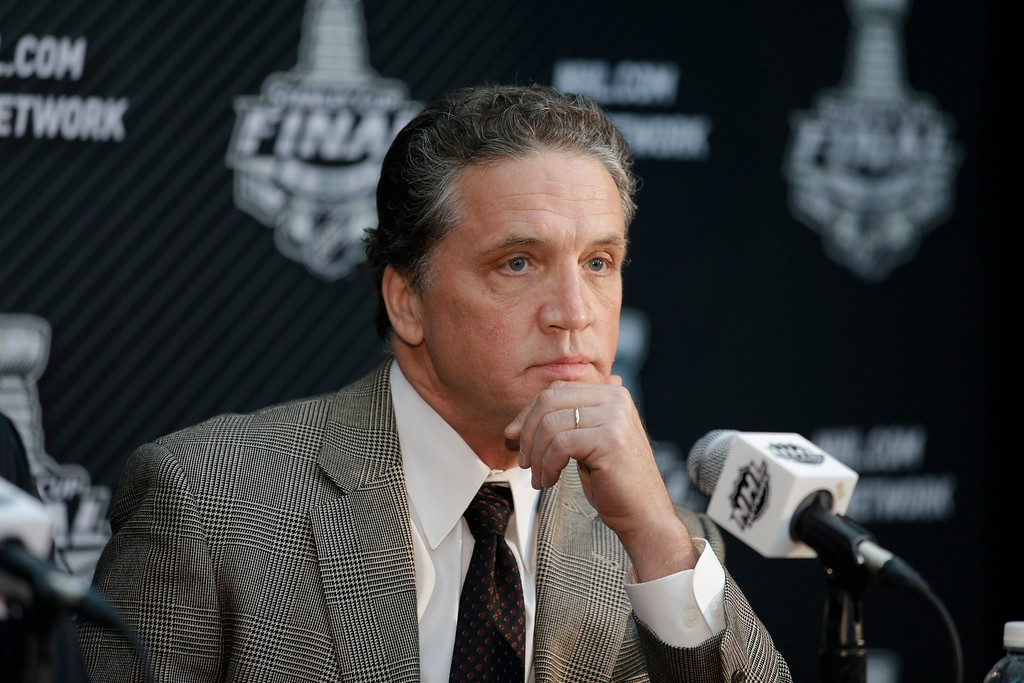 . <b>No. 31 Dean Lombardi<br/> Title: President, General Manager, Alternate Governor, Los Angeles Kings - Age: 57</b> <br/>The architect of two of the last three Stanley Cup champions is at the center of the Kings rise to one of the most respected hockey franchises in the NHL. (AP Photo/Jae C. Hong)