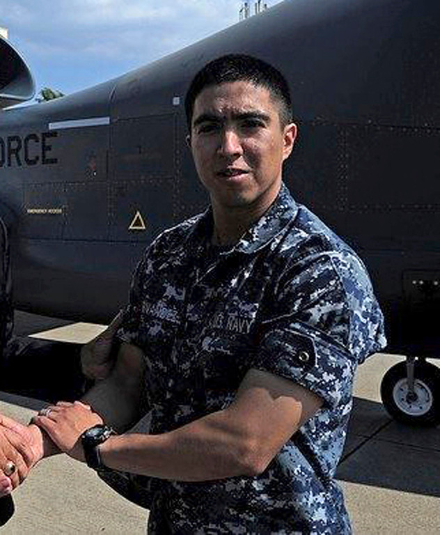 . This undated photo released by the U.S. Navy, Monday, June 19, 2017, shows Gunner\'s Mate 2nd Class Noe Hernandez, 26, from Weslaco, Texas. Hernandez is one of the seven sailors who died in a collision between the USS Fitzgerald and a container ship off Japan on Saturday, June 17, 2017.  (U.S. Navy via AP)