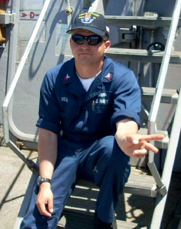 . This undated photo released by the U.S. Navy, Monday, June 19, 2017, shows Fire Controlman 1st Class Gary Leo Rehm Jr., 37, from Elyria, Ohio. Rehm is one of the seven sailors who died in a collision between the USS Fitzgerald and a container ship off Japan on Saturday, June 17, 2017.  (U.S. Navy via AP)