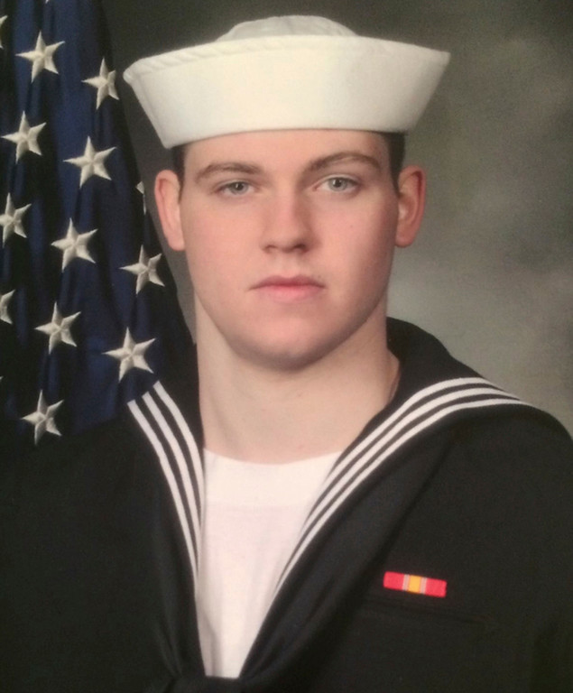 . This undated photo released by the U.S. Navy, Monday, June 19, 2017, shows Gunner\'s Mate Seaman Dakota Kyle Rigsby, 19, from Palmyra, Virginia. Rigsby is one of the seven sailors who died in a collision between the USS Fitzgerald and a container ship off Japan on Saturday, June 17, 2017. (U.S. Navy via AP)