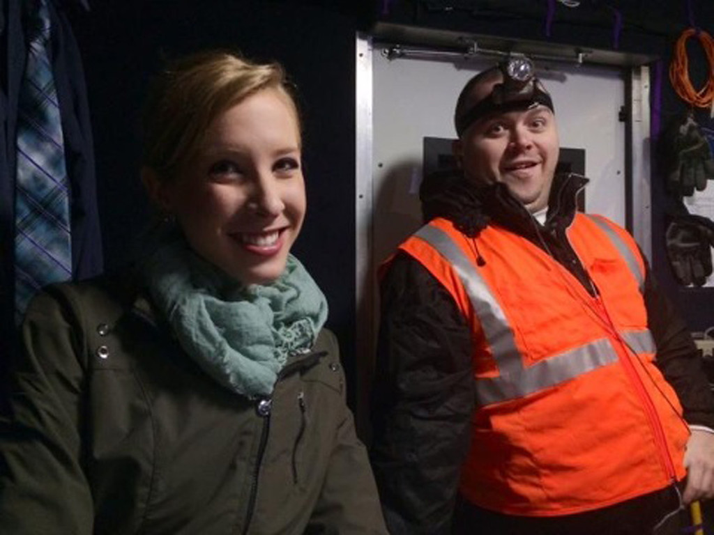 . This undated photograph made available by WDBJ-TV shows reporter Alison Parker, left, and cameraman Adam Ward. Parker and Ward were fatally shot during an on-air interview, Wednesday, Aug. 26, 2015, in Moneta, Va. Authorities identified the suspect as fellow journalist Vester Lee Flanagan II, who appeared on WDBJ-TV as Bryce Williams. Flanagan was fired from the station earlier this year. (Courtesy of WDBJ-TV via AP)
