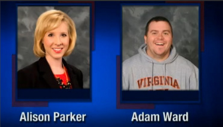 . This screenshot from WDBJ-TV7, in Roanoke, Va., shows reporter Alison Parker and photographer Adam Ward. Parker and Ward were killed, Wednesday, Aug. 26, 2015, when a gunman opened fire during a live on-air interview in Moneta, Va. (Courtesy of WDBJ-TV7 via AP)