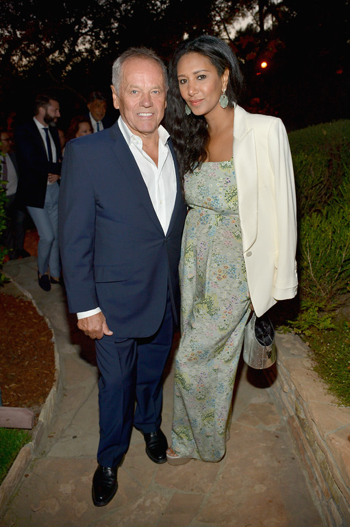 """. LOS ANGELES, CA - AUGUST 10:  Chef Wolfgang Puck (L) and designer Gelila Assefa attend the special event for UN Secretary-General Ban Ki-moon hosted by Brett Ratner and David Raymond at Hilhaven Lodge on August 10, 2016 in Los Angeles, California.  (Photo by Charley Gallay/Getty Imagesfor RatPac Entertainment\'s \""""In Harm\'s Way\"""" Event)"""